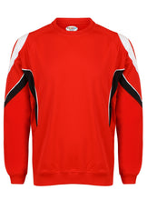 Load image into Gallery viewer, Rio Sweatshirt Gazelle Sports UK Yes XS Col B) Red/ Black/ White