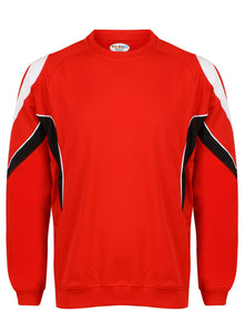 Rio Sweatshirt Kids Gazelle Sports UK Yes XSJ/26 Col B) Red/ Black/ White
