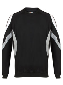 Rio Sweatshirt Kids Gazelle Sports UK Yes XSJ/26 Col C) Black/ Silver/ White