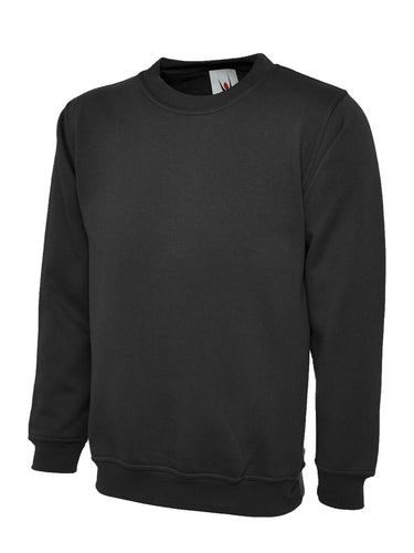 Uneek Premium Sweatshirt Gazelle Sports UK XS Black