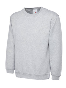 Uneek Premium Sweatshirt Gazelle Sports UK XS Heather Grey