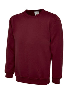 Uneek Premium Sweatshirt Gazelle Sports UK XS Maroon