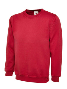 Uneek Premium Sweatshirt Gazelle Sports UK XS Red