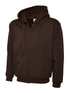 Uneek Classic Zip hoodie Gazelle Sports UK XS Brown