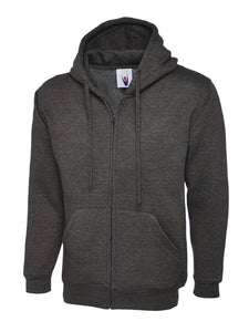 Uneek Classic Zip hoodie Gazelle Sports UK XS Charcoal