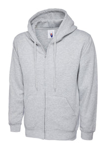 Uneek Classic Zip hoodie Gazelle Sports UK XS Heather Grey