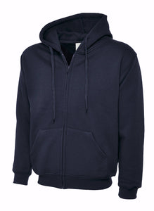 Uneek Classic Zip hoodie Gazelle Sports UK XS Navy
