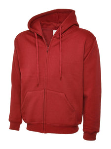 Uneek Classic Zip hoodie Gazelle Sports UK XS Red