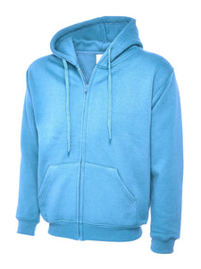 Uneek Classic Zip hoodie Gazelle Sports UK XS Sky