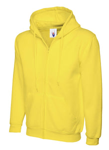 Uneek Classic Zip hoodie Gazelle Sports UK XS Yellow