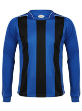 Load image into Gallery viewer, Kids Italia Long Sleeve Football Top Gazelle Sports UK XSB/26 Royal/Black No