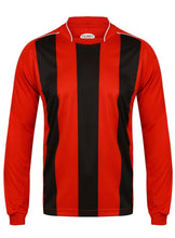 Load image into Gallery viewer, Kids Italia Long Sleeve Football Top Gazelle Sports UK XSB/26 Red/Black No