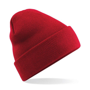 Original Cuffed Beanie by Beechfield BC045 Gazelle Sports UK Yes Classic Red