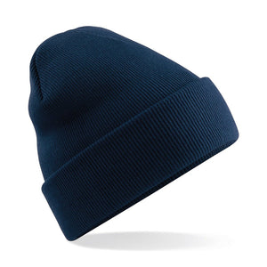 Original Cuffed Beanie by Beechfield BC045 Gazelle Sports UK Yes Navy