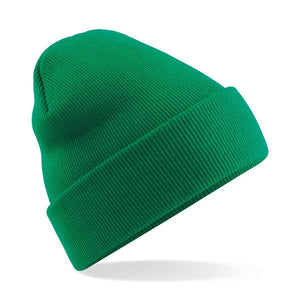Original Cuffed Beanie by Beechfield BC045 Gazelle Sports UK Yes Green