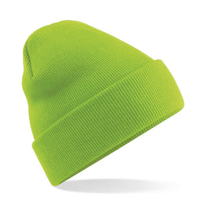 Original Cuffed Beanie by Beechfield BC045 Gazelle Sports UK Yes Lime