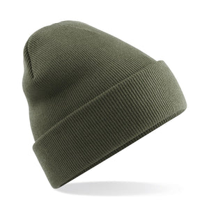 Original Cuffed Beanie by Beechfield BC045 Gazelle Sports UK Yes Olive