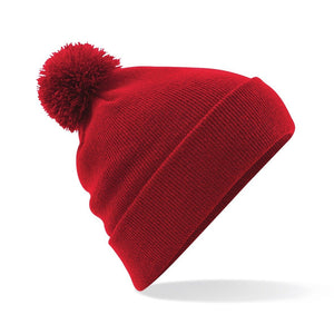 Pom Pom Beanie by Beechfield BC426 Gazelle Sports UK Yes Red