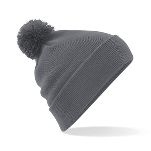 Pom Pom Beanie by Beechfield BC426 Gazelle Sports UK Yes Grey