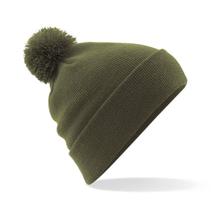Pom Pom Beanie by Beechfield BC426 Gazelle Sports UK Yes Green