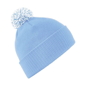 Snowstar Beanie Hat with two Tone Pom Pom Gazelle Sports UK Sky/white No