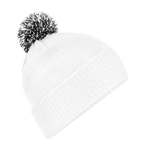 Snowstar Beanie Hat with two Tone Pom Pom Gazelle Sports UK White/Black No