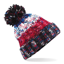 Load image into Gallery viewer, Adults Corkscrew pom pom Beanie Headwear Gazelle Sports UK Black Jacks No