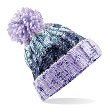 Load image into Gallery viewer, Adults Corkscrew pom pom Beanie Headwear Gazelle Sports UK Lavender Fizz No