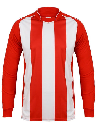 Italia Long Sleeve Football Top Gazelle Sports UK XS Red/White No