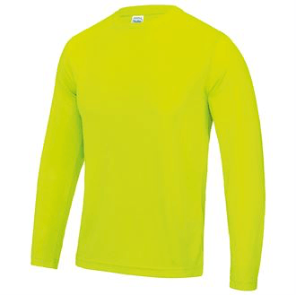 Long Sleeve Sports Top JC002 Gazelle Sports UK Yes S Electric Yellow