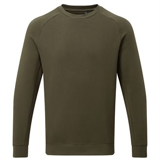 Mens Classic Organic Cotton Sweatshirt AQ078 Gazelle Sports UK Yes Olive S