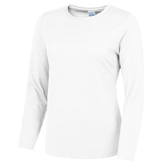 Long Sleeve Sports Top Gazelle Sports UK Yes S White