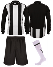 Load image into Gallery viewer, Adults Italia Football Kit Gazelle Sports UK Yes XS Col C) Black/ White