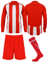 Load image into Gallery viewer, Adults Italia Football Kit Gazelle Sports UK Yes XS Col E) Red/ White