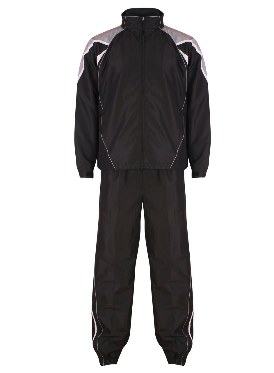 Adults Teamstar Tracksuit Tracksuits Gazelle Sports UK XS Black/Dove/White No