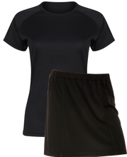 Load image into Gallery viewer, Ladies Netball / Hockey / Rounders Team Kits Gazelle Sports UK XS/8 BLACK YES