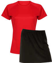 Load image into Gallery viewer, Ladies Netball / Hockey / Rounders Team Kits Gazelle Sports UK XS/8 RED/BLACK YES