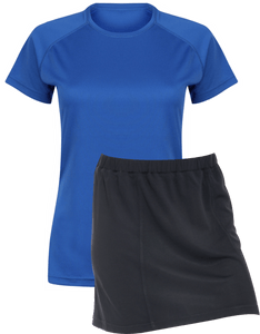 Ladies Netball / Hockey / Rounders Team Kits Gazelle Sports UK XS/8 ROYAL/NAVY YES