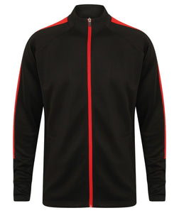 Adults Knitted Tracksuit Jacket LV871 Gazelle Sports UK Yes XXS Black/Red