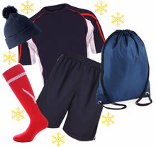Load image into Gallery viewer, Kids Sports Kit Gift Set Gazelle Sports UK XSJ/26 B Navy/red/White