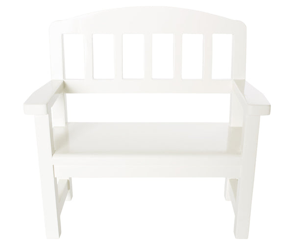 Wooden Park Bench, Cream