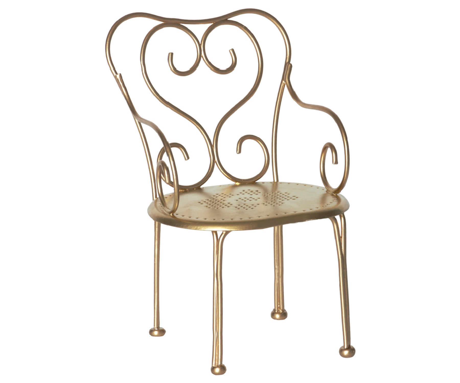 Gold Vintage Chair Mini Maileg USA The Magical World of Maileg