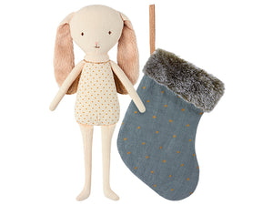 Bunny Angel in Stocking, Petrol Blue