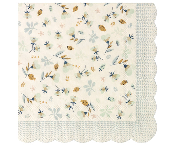 Flower Field Napkins, Blue