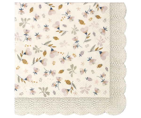 Flower Field Napkins, Powder