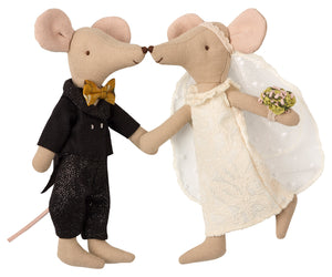 Wedding Mice Couple in Box