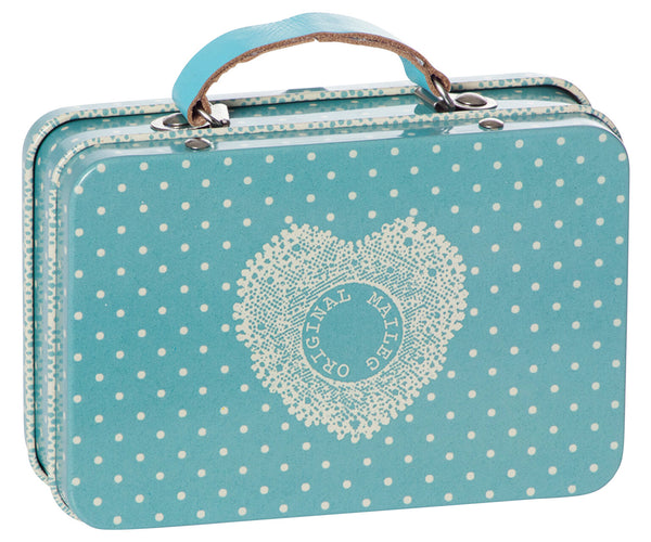 Small Dot Blue Suitcase