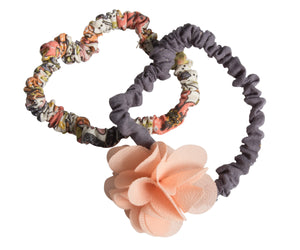 Fluffy Flower Rose, Hair Elastics