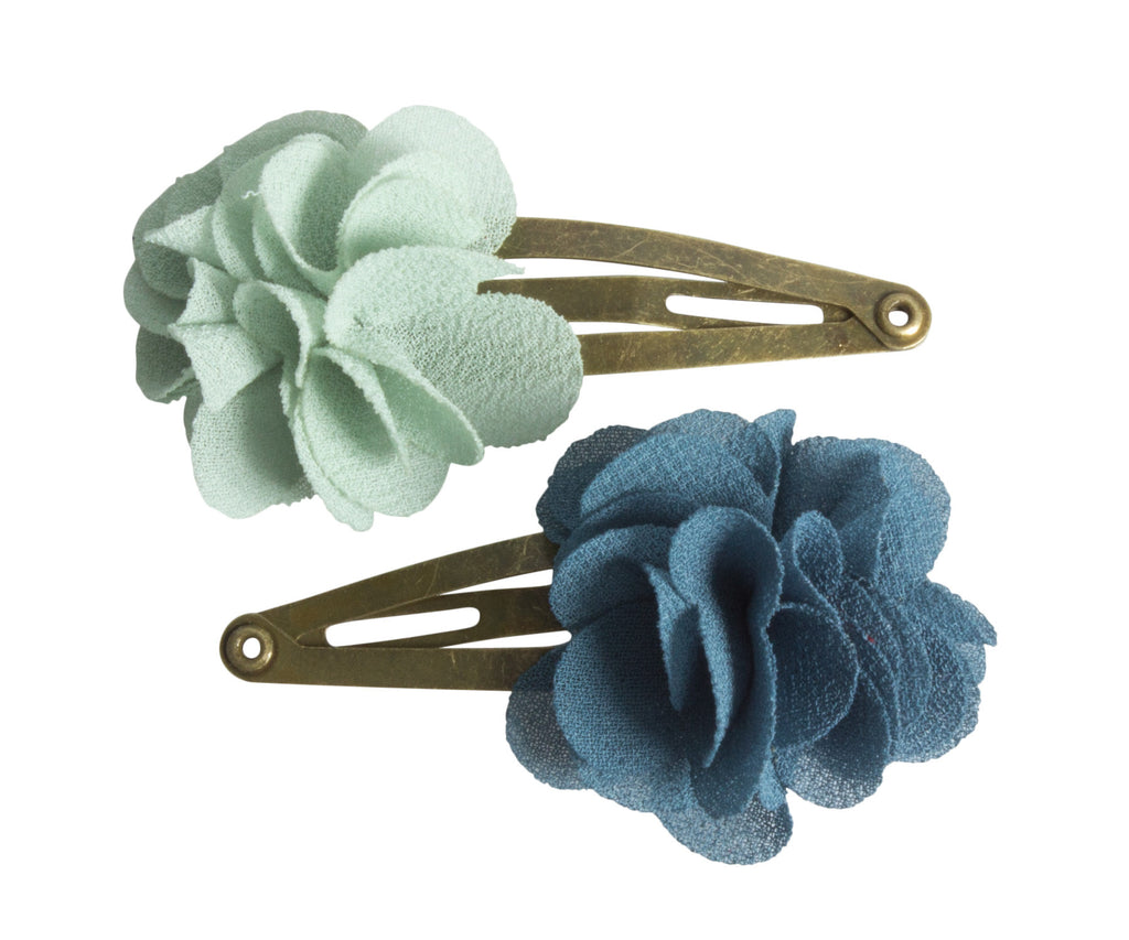 Fluffy Flower Aqua, Hair Clips