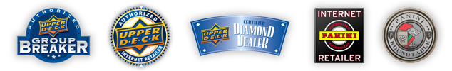 Upper Deck Authorized Group Breaker, Upper Deck Authorized Internet Retailer, Upper Deck Diamond Dealer, Panini Internet Retailer, Panini Roundtable